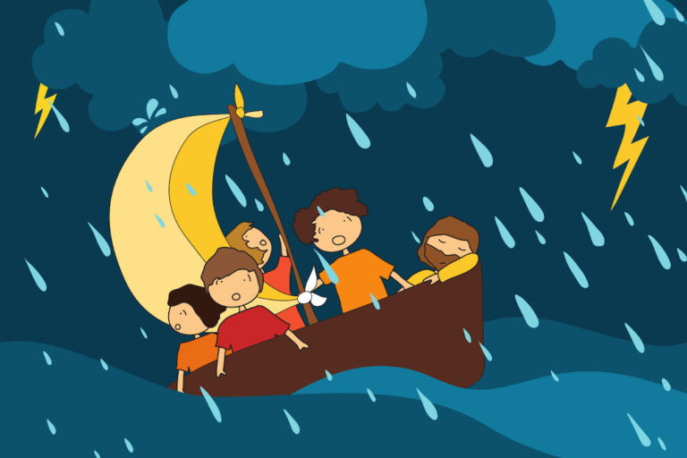 Jésus et la tempête