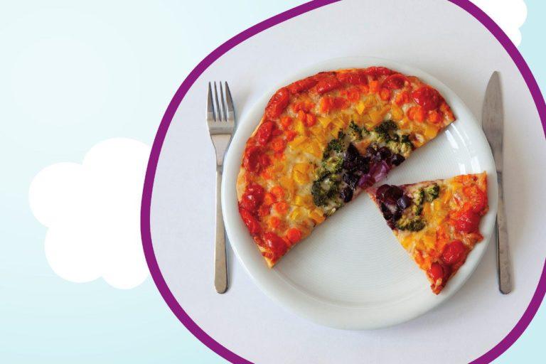 Pizza multicolore