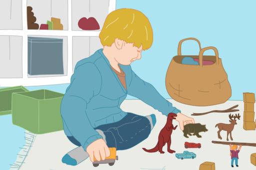 Enfant jouant dans sa chambre